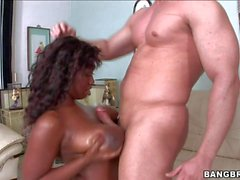 Delotta Brown gets her black wow Tits fucked