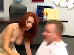 Crazy Redhead Schoolgirl Does teacher