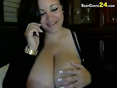 big tits, brünett, webcam