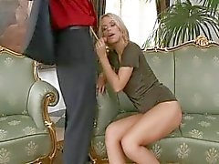 Blond Sabrina is damn horny
