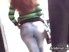Arab Chick With A Nice Ass In Tight Jeans