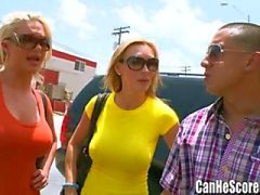 Phoenix Marie and Tanya Tate double date BJ at the Sex Shop