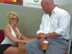 Work can wait as the boss decides to try out his new assistant Brooke Haven