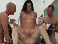 Anal gang bang of hot schoolgirl