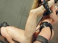 Blonde Fucks slave Up its Ass