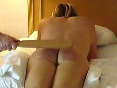 spanking Maid Erica a a terrible sore ass