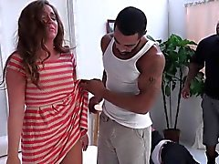 Domina gets cum from bbcs