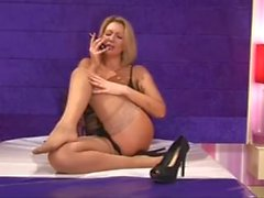 BS Leigh Darby Stocking Foot Tease And Big Tits