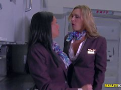 Cfnm fun in the sky with Veronica Avluv and Tanya Tate