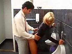 Sudden sex with a whore in a toilet
