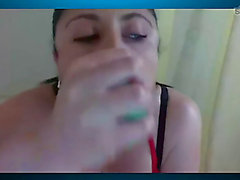 Webcam puking wench 1