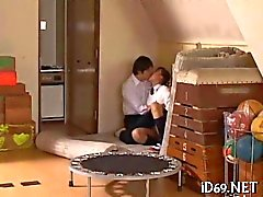 kinky asian gym teacher gets blown by a schoolgirl