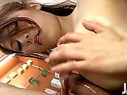 Yuki Aida is a sales rep at a spa and she gets a lot of