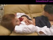 Schoolgirl Licking Schoolguy Asshole Getting Her Hairy Pussy Licked And Fingered On The Couch In The Sitting Room