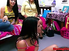 College babes lesbian pussylicking session
