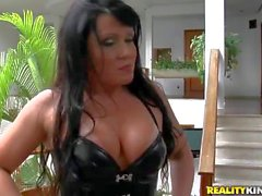 Horny and busty Gabriella gets her ass licked good