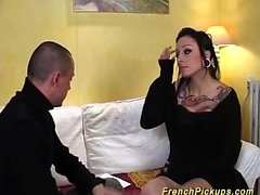 round ass tattooed french Milf fucked