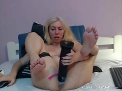 Extreme Masturbation Erika with toys and bottle