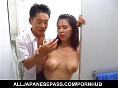 Japanese AV Model in heats endures a good fuck on cam