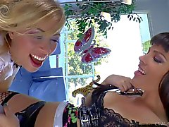 Dana Dearmond and Zoey Monroe play with strapon
