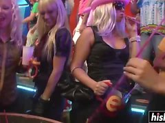 Naughty babes have fun at the party