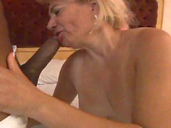 Hairy granny doing crochet and sex