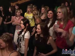 Sexy honeys get naughty at a party