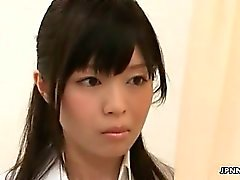 Cute Japanese nurse loves masturbating