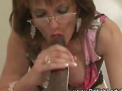 Interracial Lady Sonia ready to gag on a BBC