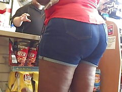 Denim Shorts Thick Mature Ebony Pt 2