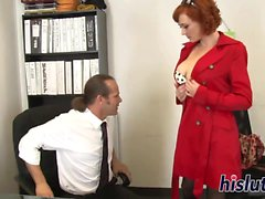 anale, hd, milf, rosso, calze