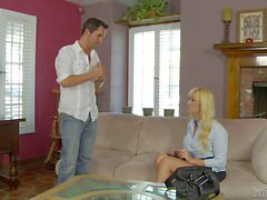 Charming blonde milf Alana Evans is his son's sexy teacher