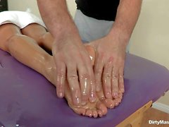 Ava Addams enjoys relaxing massage in the nude