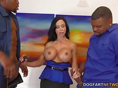 Busty Jewels Jade gets double penetrated by black cocks in threesome