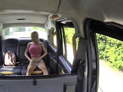 Fake Taxi Squirting busty blonde gives blowjob and anal