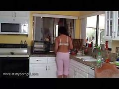 Daughter fucks dad when mom is cooking