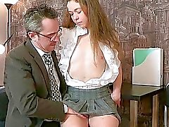 Old tutor gets cock loving action
