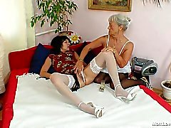 Never too old for some lesbian action