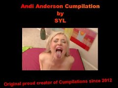 andi anderson, andi- andersons, gesichtsbehandlung - kompilation, cumpilation, porno star - cumpilation