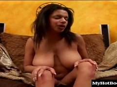 Alexis Silver is a horny curvy brunette with giant tits and