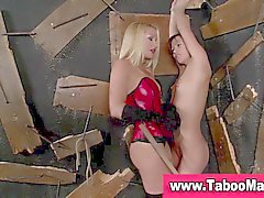Lesbo domina spanks and fingers bound hoes ass in hd