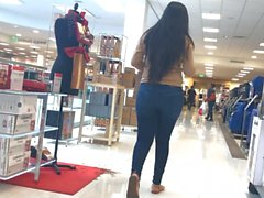 Latina Teen Tight Jeans Gets Lotioned!