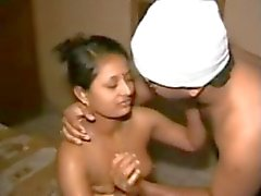 Cute North Indian Aunty's SEX TAPE with Mature GUY-I