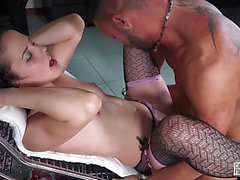 Dark haired dilettante hottie enjoys vehement fuck in hawt Italian casting threatening-menacing PornDoe
