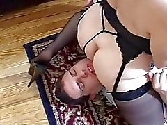 Man looks hungry for mistress ass
