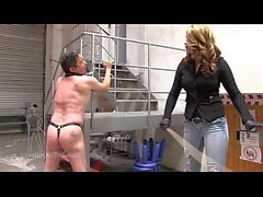 Hot mistress whip hard her slave femaledomination