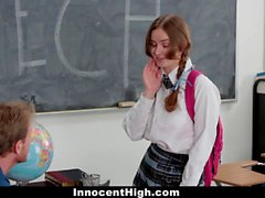 Shy Schoolgirl Fucks Her Speech Teacher
