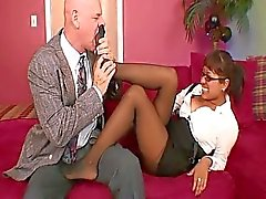 Busty Secretary Takes Bosses Coc...