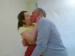 Dirty old man fucks young Tiffanny