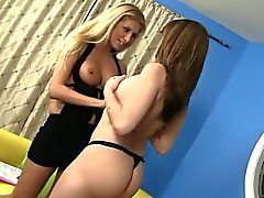 Two lusty babes have some lesbian fun